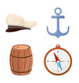 isolated object adventure and sea symbol vector image