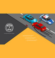 isometric car accident composition vector image