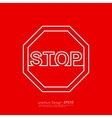 Line stop sign vector image