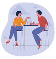 man and woman drinking wine vector image