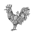 mechanical cock vector image vector image