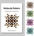 molecule science pattern brochure template vector image vector image