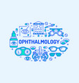 ophthalmology medical banner eyes vector image vector image