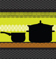 Pan and pot with ancient background vector image vector image