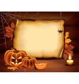 pumpkin paper halloween vector image vector image