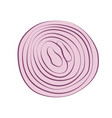 red onion sliced with rings vector image