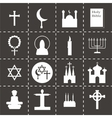 Religion icon set vector image vector image