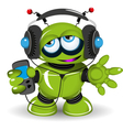 Robot Music Lover vector image vector image