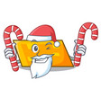 santa with candy parallelogram mascot cartoon vector image vector image