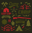 Scout camp badges vector image vector image