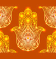 seamless henna pattern with hamsa boho buddhas vector image vector image