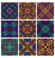 set retro seamless patterns geometric shapes vector image vector image