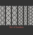 set seamless borders border decoration vector image