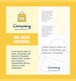 shopping bag company brochure title page design vector image vector image