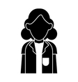 silhouette doctor woman stethoscope medical vector image vector image