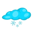 Snow and cloud icon cartoon style vector image