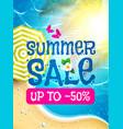 summer sale background sunnu beach warm sea vector image vector image