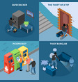 thief isometric design concept vector image vector image
