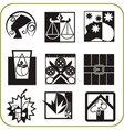 Urban services - Set of icons vector image vector image