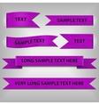 violet ribbons vector image