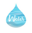 water symbol of the four elements vector image
