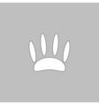 Animals footprints computer symbol vector image