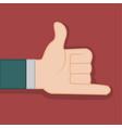 shaka calling hand gesture graphic vector image