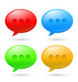 collection speech bubbles on white background vector image