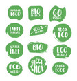 set of natural stickers vector image