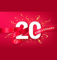 20th anniversary celebration banner template vector image