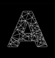 a geometric triangle block chain font vector image vector image
