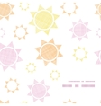 abstract textile colorful suns geometric frame vector image vector image
