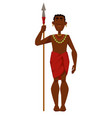 african man warrior tribe member in jewelry vector image vector image