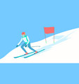 alpine skier on the ski track vector image vector image