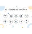 alternative energy trendy infographic template
