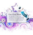 banner with grunge background vector image vector image