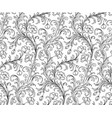 baroque style pattern vector image vector image