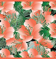 beautiful flowers seamless pattern floral vector image vector image