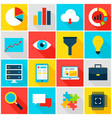 big data colorful icons vector image
