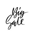 big sale modern dry brush lettering handwritten vector image vector image