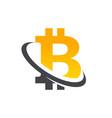 bitcoin logo icon vector image vector image