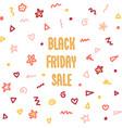 black friday doodle sales banner set kids vector image vector image