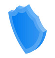 blue shield icon isometric style vector image vector image