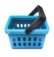 Blue shopping basket icon 10eps vector image vector image