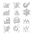 Business graphs diagrams icons set