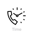 call time icon editable line vector image vector image