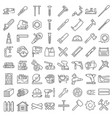 carpentry industry equipment icons set vector image vector image