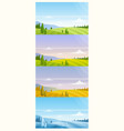 cartoon panoramic countryside natural scenery in vector image vector image