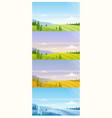 cartoon panoramic countryside natural scenery vector image vector image