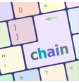 chain button on computer pc keyboard key vector image